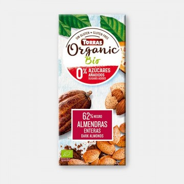 CHOCOLATE NEGRO S-azuar  CON ALMENDRAS