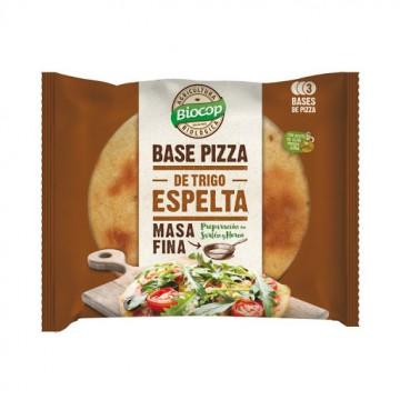 BASE DE PIZZA DE ESPELTA MASA FINA.